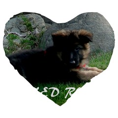 Spoiled Rotten German Shepherd Large 19  Premium Heart Shape Cushions