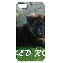 Spoiled Rotten German Shepherd Apple iPhone 5 Hardshell Case with Stand
