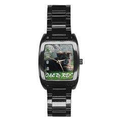 Spoiled Rotten German Shepherd Stainless Steel Barrel Watch