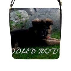 Spoiled Rotten German Shepherd Flap Messenger Bag (L)
