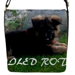 Spoiled Rotten German Shepherd Flap Messenger Bag (S)