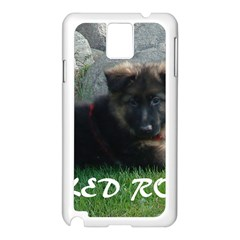 Spoiled Rotten German Shepherd Samsung Galaxy Note 3 N9005 Case (White)