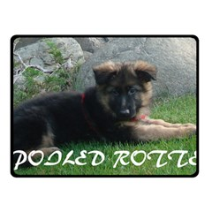 Spoiled Rotten German Shepherd Double Sided Fleece Blanket (Small)