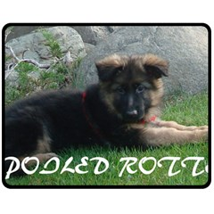 Spoiled Rotten German Shepherd Double Sided Fleece Blanket (Medium)