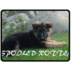 Spoiled Rotten German Shepherd Double Sided Fleece Blanket (Large)