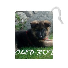 Spoiled Rotten German Shepherd Drawstring Pouches (Large)