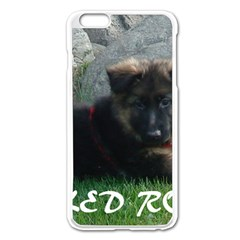 Spoiled Rotten German Shepherd Apple iPhone 6 Plus/6S Plus Enamel White Case