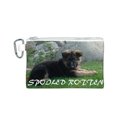 Spoiled Rotten German Shepherd Canvas Cosmetic Bag (S)