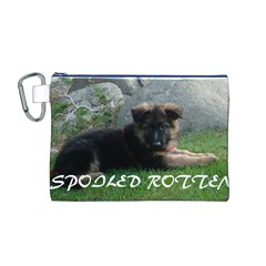 Spoiled Rotten German Shepherd Canvas Cosmetic Bag (M)