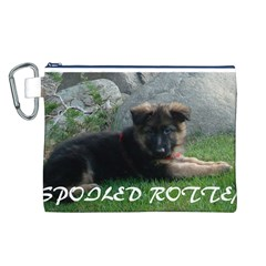 Spoiled Rotten German Shepherd Canvas Cosmetic Bag (L)