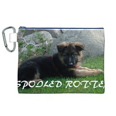 Spoiled Rotten German Shepherd Canvas Cosmetic Bag (XL)