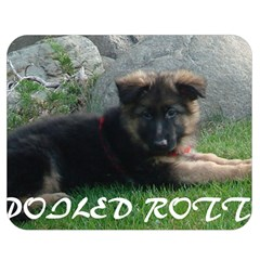 Spoiled Rotten German Shepherd Double Sided Flano Blanket (Medium)