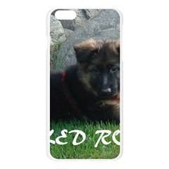 Spoiled Rotten German Shepherd Apple Seamless iPhone 6 Plus/6S Plus Case (Transparent)