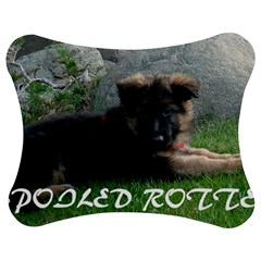 Spoiled Rotten German Shepherd Jigsaw Puzzle Photo Stand (Bow)