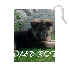 Spoiled Rotten German Shepherd Drawstring Pouches (Extra Large)