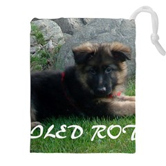 Spoiled Rotten German Shepherd Drawstring Pouches (XXL)