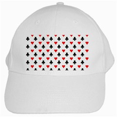 Curly Heart Card Red Black Gambling Game Player White Cap
