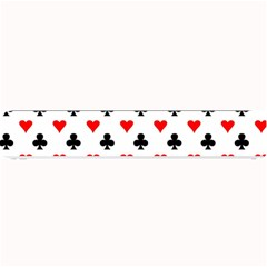 Curly Heart Card Red Black Gambling Game Player Small Bar Mats