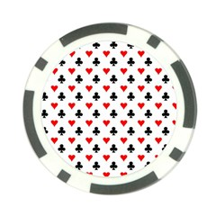 Curly Heart Card Red Black Gambling Game Player Poker Chip Card Guard