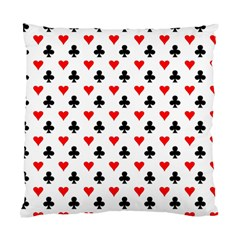 Curly Heart Card Red Black Gambling Game Player Standard Cushion Case (One Side)