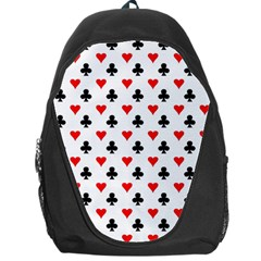 Curly Heart Card Red Black Gambling Game Player Backpack Bag