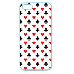 Curly Heart Card Red Black Gambling Game Player Apple Seamless iPhone 5 Case (Color)