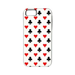 Curly Heart Card Red Black Gambling Game Player Apple iPhone 5 Classic Hardshell Case (PC+Silicone)