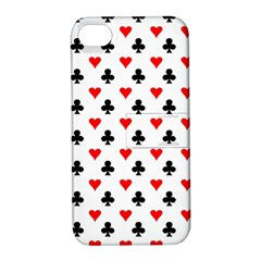 Curly Heart Card Red Black Gambling Game Player Apple iPhone 4/4S Hardshell Case with Stand