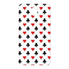 Curly Heart Card Red Black Gambling Game Player Samsung Galaxy Note 3 N9005 Hardshell Back Case