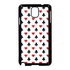 Curly Heart Card Red Black Gambling Game Player Samsung Galaxy Note 3 Neo Hardshell Case (Black)