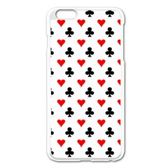 Curly Heart Card Red Black Gambling Game Player Apple iPhone 6 Plus/6S Plus Enamel White Case
