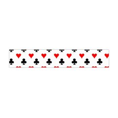 Curly Heart Card Red Black Gambling Game Player Flano Scarf (Mini)