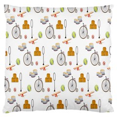 Circus Bicycle Wheel Standard Flano Cushion Case (Two Sides)