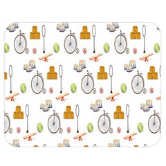 Circus Bicycle Wheel Double Sided Flano Blanket (Medium)