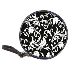 Clasic Floral Flower Black Classic 20-CD Wallets