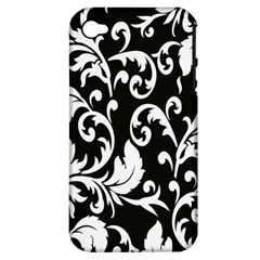 Clasic Floral Flower Black Apple iPhone 4/4S Hardshell Case (PC+Silicone)