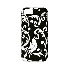 Clasic Floral Flower Black Apple iPhone 5 Classic Hardshell Case (PC+Silicone)