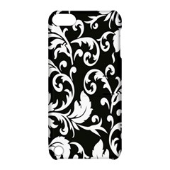 Clasic Floral Flower Black Apple iPod Touch 5 Hardshell Case with Stand