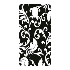 Clasic Floral Flower Black Samsung Galaxy Note 3 N9005 Hardshell Back Case