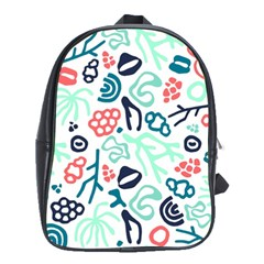 Coral Leaf Flower Sea School Bags(Large)