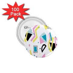 Design Elements Illustrator Elements Vasare Creative Scribble Blobs Yellow Pink Blue 1.75  Buttons (100 pack)