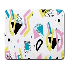 Design Elements Illustrator Elements Vasare Creative Scribble Blobs Yellow Pink Blue Large Mousepads