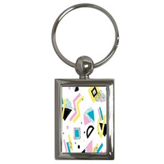 Design Elements Illustrator Elements Vasare Creative Scribble Blobs Yellow Pink Blue Key Chains (Rectangle)