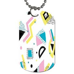 Design Elements Illustrator Elements Vasare Creative Scribble Blobs Yellow Pink Blue Dog Tag (Two Sides)