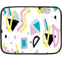 Design Elements Illustrator Elements Vasare Creative Scribble Blobs Yellow Pink Blue Fleece Blanket (Mini)