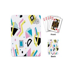 Design Elements Illustrator Elements Vasare Creative Scribble Blobs Yellow Pink Blue Playing Cards (Mini)