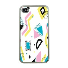 Design Elements Illustrator Elements Vasare Creative Scribble Blobs Yellow Pink Blue Apple iPhone 4 Case (Clear)
