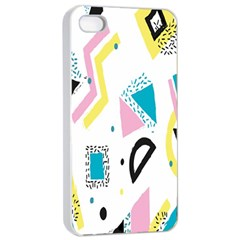 Design Elements Illustrator Elements Vasare Creative Scribble Blobs Yellow Pink Blue Apple iPhone 4/4s Seamless Case (White)