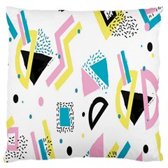 Design Elements Illustrator Elements Vasare Creative Scribble Blobs Yellow Pink Blue Large Cushion Case (Two Sides)