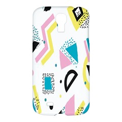 Design Elements Illustrator Elements Vasare Creative Scribble Blobs Yellow Pink Blue Samsung Galaxy S4 I9500/I9505 Hardshell Case